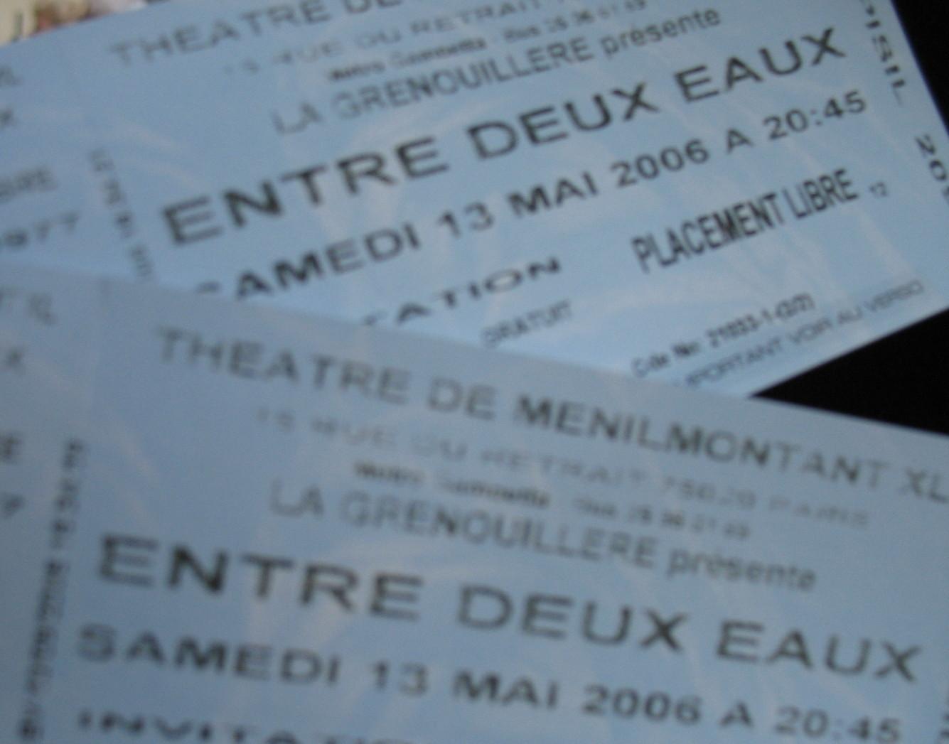 Entre Deux Eaux tickets